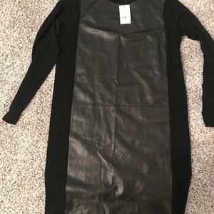 Vince Leather  and Cashmere dress